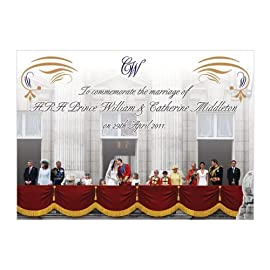 Royal Wedding Commemorative Ceramic Postcard