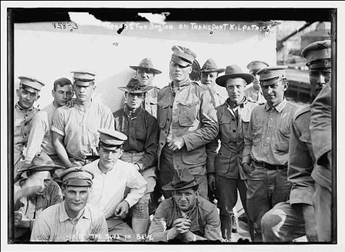 Reprint The Boys in Blue - troops for Boston aboard U.S. Army Transport Kilpatrick 1909
