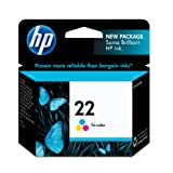 HP 22 C9352AN#140 Tri-Color Ink Cartridge in Retail Packaging ~ HP