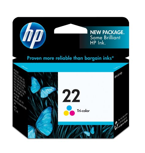 HP 22 Tri-color Original Ink Cartridge (C9352AN)