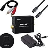 WV-LINK Digital Optical Coax to Analog RCA Audio Converter with Fiber Cable