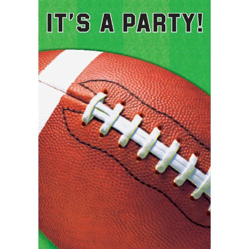 Amscan Football Invitations - 8 ct