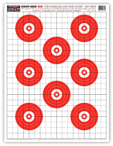 Sight Seer Red - Paper Gun Range Shooting Targets 19x25 Inch (5 Pack) (Dot Torture Target compare prices)