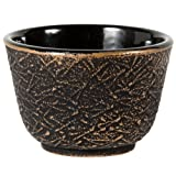 Black and Gold Pine Needle Tetsubin Cup