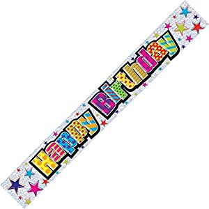 Holographic Happy Birthday Adult Banner