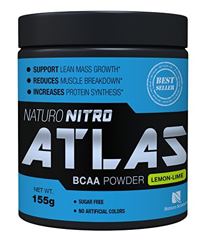 Naturo Nitro, BCAA Instantized Powder, Best Branched Chain Amino Acids, 28 Servings, 5.5g Per Serving, Lemon Lime Flavor ... (Thermogenic Energy Drink Mix compare prices)