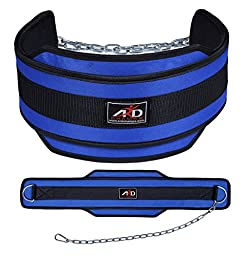 ARD Weight Lifitng Belt Neoprene Belt Excercise Belt Heavy Chain Blue