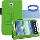 Iwotou Green PU Leather Stand Case Cover with Stylus Slot Holder Design for Samsung Galaxy Tab 3 7.0 Inch Tablet + Accessories Free Offered By Manufacturer