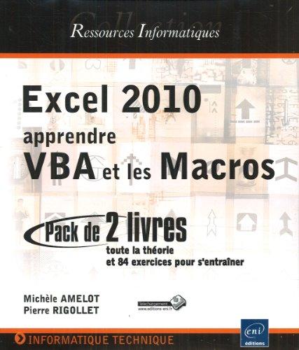 excel 2010 apprendre vba et les macros coffret de 2 livres toute la theori ebay. Black Bedroom Furniture Sets. Home Design Ideas