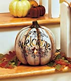 Decorative LED Lighted Pumpkin Stars Cut Out Country Primitive Fall Accent Thanksgiving Decor