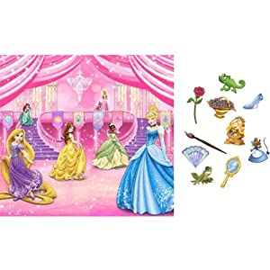 New art disney princess scene setter birthday party wall decoration backdrop photo props amazon - Princess party wall decorations ...