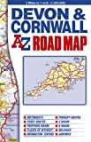 img - for Devon and Cornwall Road Map book / textbook / text book