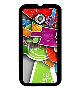 PrintVisa Back Cover for Motorola Moto E2 (Multi-coloured)