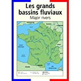 A3 homemade* French poster teaching aid / classroom resources - Rivers in France/Les grand bassins fluviaux (supplied folded to A4, NOT laminated)by 123 Web Art