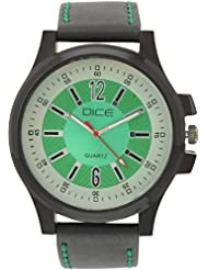 """Dice """"Black-Beast-1009"""" Casual Round Shaped Wrist Watch For Men. Fitted With Beautiful Green Color Dial And Anti-Allergic..."""