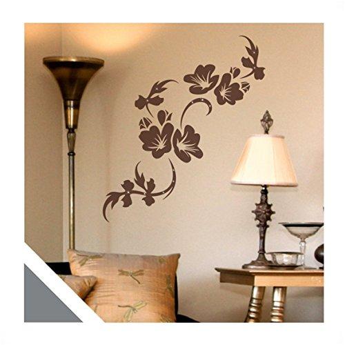 wandtattoo blumen ranke eluise floral inkl swarovski flo128wg silbergrau 120 x 46 cm mit farb. Black Bedroom Furniture Sets. Home Design Ideas