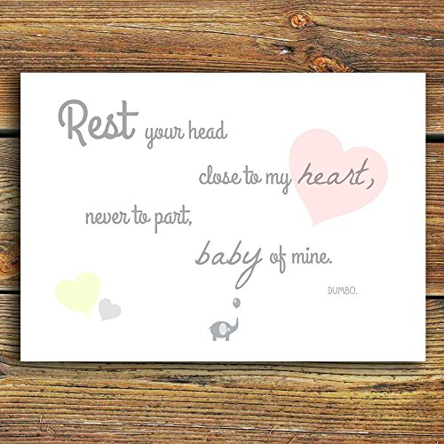 dumbo-quote-print-rest-your-head-close-to-my-heart-never-to-part-baby-of-mine-beautiful-unique-nurse