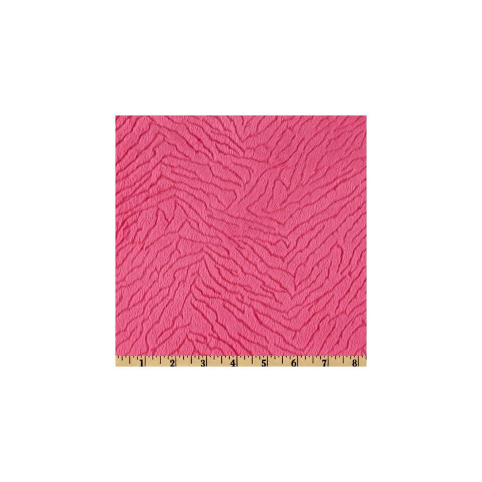 60 Wide Minky Silky Cuddle Fuchsia Fabric By The Yard