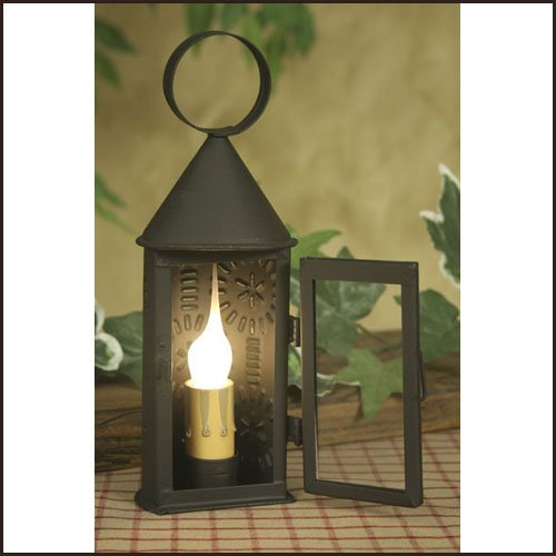 Butner Electric Candle Lantern - Mini Lamp In Rustic Brown