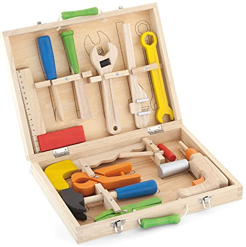Top-Race-12-Piece-Tool-Box-Solid-Wood-Tool-Box-with-Colorful-Wooden-Tools-Construction-Toy-Role-Play-Set