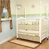 AFG Baby Furniture 6055W Canopy Crib - White