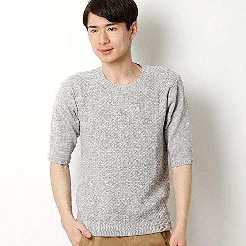 MKオム(MK homme) メランジハチスプルニット【90ホワイト/48/L】