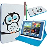 (US) Galaxy Note 10.1 (2012 Edition) Case,MaxMall Owl Pattern Stand PU Leather Case Cover Slim Fit for Samsung Galaxy Note 10.1 Inch Tablet (2012 Edition / N8000 / N8010 / N8013)