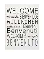 LO+DEMODA Panel de Madera Welcome