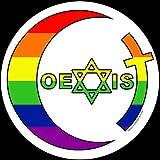 Coexist Round Rainbow Sticker 4-inch Gay Rights