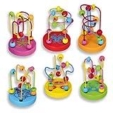 Andreu Toys 9 x 9 x 12,5 cm 6-Visualización de modelo Mini laberintos de alambre (Multicolor)