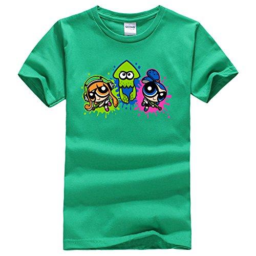 Dealong boys Splatoon Puff T shirt x-large Irish green capdase