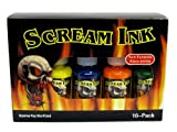 Scream Tattoo Ink 10-pack Set 1/2-oz Bottles -Tattoo Supplies-