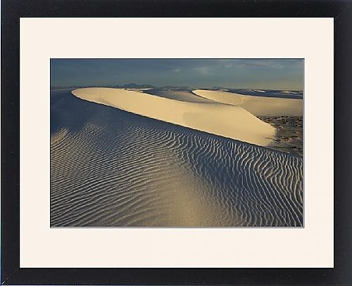 Framed Print Of White Sands In The Tularosa Basi