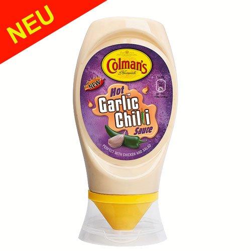 Colman's Hot Garlic Chilli Sauce 256g - eine scharfe Kombination von Knoblauch & Chilli