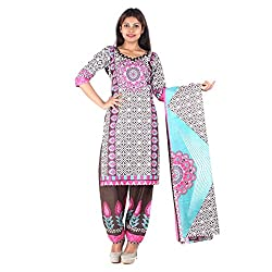 RangoliSF Woman's Cotton Unstitched Dress Material (RSFT1004 Purple)