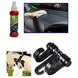 Combo - Auto Pearl - 120ml Car Polish Spray, Car Double Hook Headrest Luggage Holder