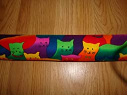The Maine Sales Company Colorful Cats Standard Door Draft Stopper Filled with Fragrant Balsam, 2\