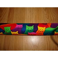 Door Draft Stopper Filled with Fragrant Balsam Featuring Colorful Cats