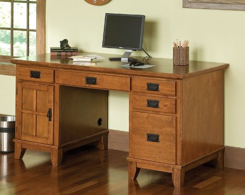 Buy Low Price Comfortable Computer Executive Desk in Cottage Oak Finish (B004S0YHHU)