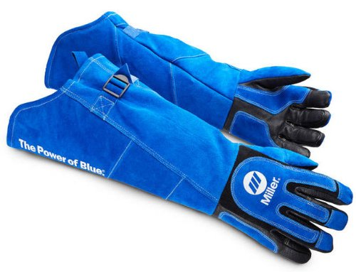 Miller 263342 Arc Armor Heavy Duty Mig/Stick Welding Glove Long Cuff, X-Large