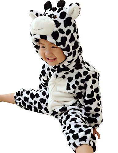 DD-CM Baby Boys Girls Halloween Milk Cow Romper Costume