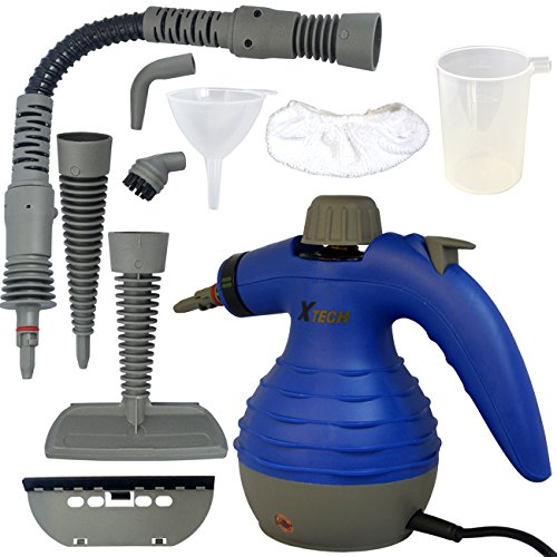 Xtech Electric Easy Handheld Steam Cleaner with 6 Different Attachments and 3 Additional Accessories
