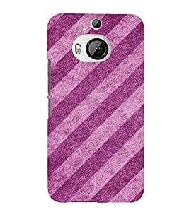 Slant Pattern 3D Hard Polycarbonate Designer Back Case Cover for HTC One M9+ :: HTC One M9 Plus