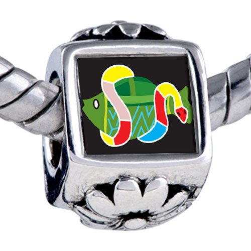 Pugster Bead Multicolored Snake Around Fish Beads Fits Pandora Bracelet