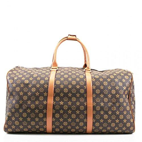 unisex-large-leather-look-sports-gym-travel-golf-holdall-luggage-duffle-weekend-bag-uk-coffee