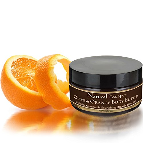 Olive & Orange Body Butter Deeply Moisturizes with Organic Olive oil and Real Oranges! Powerful Anti-Aging and Antioxidant Formula is Ideal for Dry, Itchy Skin, Psoriasis, Eczema, Burn Relief, Wrinkle Reduction, Scar Reduction & More!