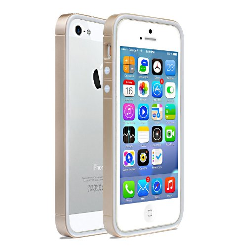 Moon Monkey Lightweight Ultra-Thin Soft Bumper Protective Frame Slim Case For Iphone 5 5S (Mm394) (Gold)