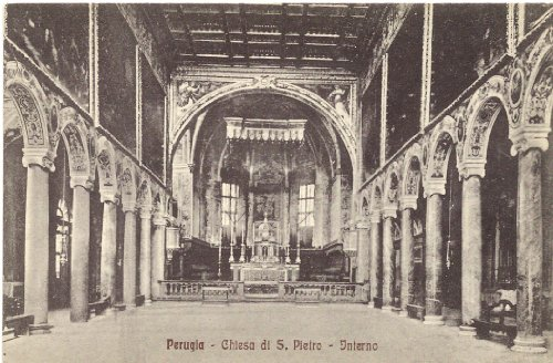 1920s Vintage Postcard Interior of Chiesa di