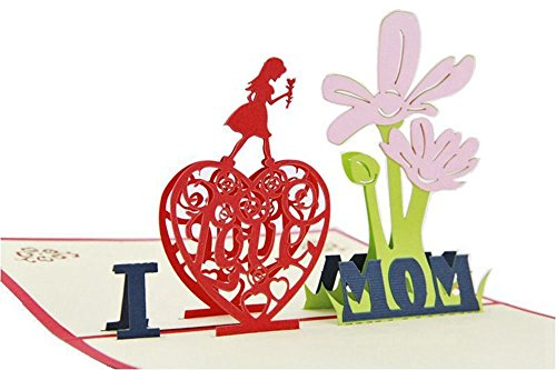 pop up birthday cards for mom - augenblick mothers birthday day handmade 3d pop up