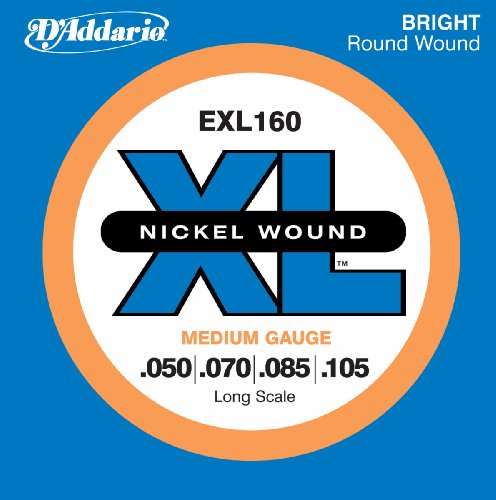 D'Addario EXL160 Nickel Wound Bass Guitar Strings,